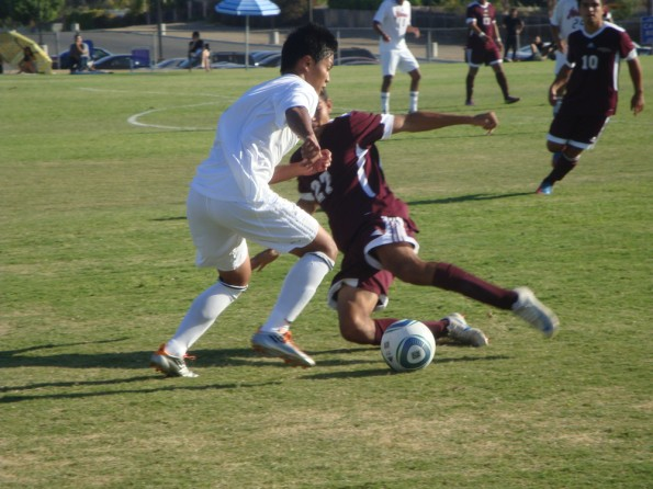 Mens soccer team loses first league game