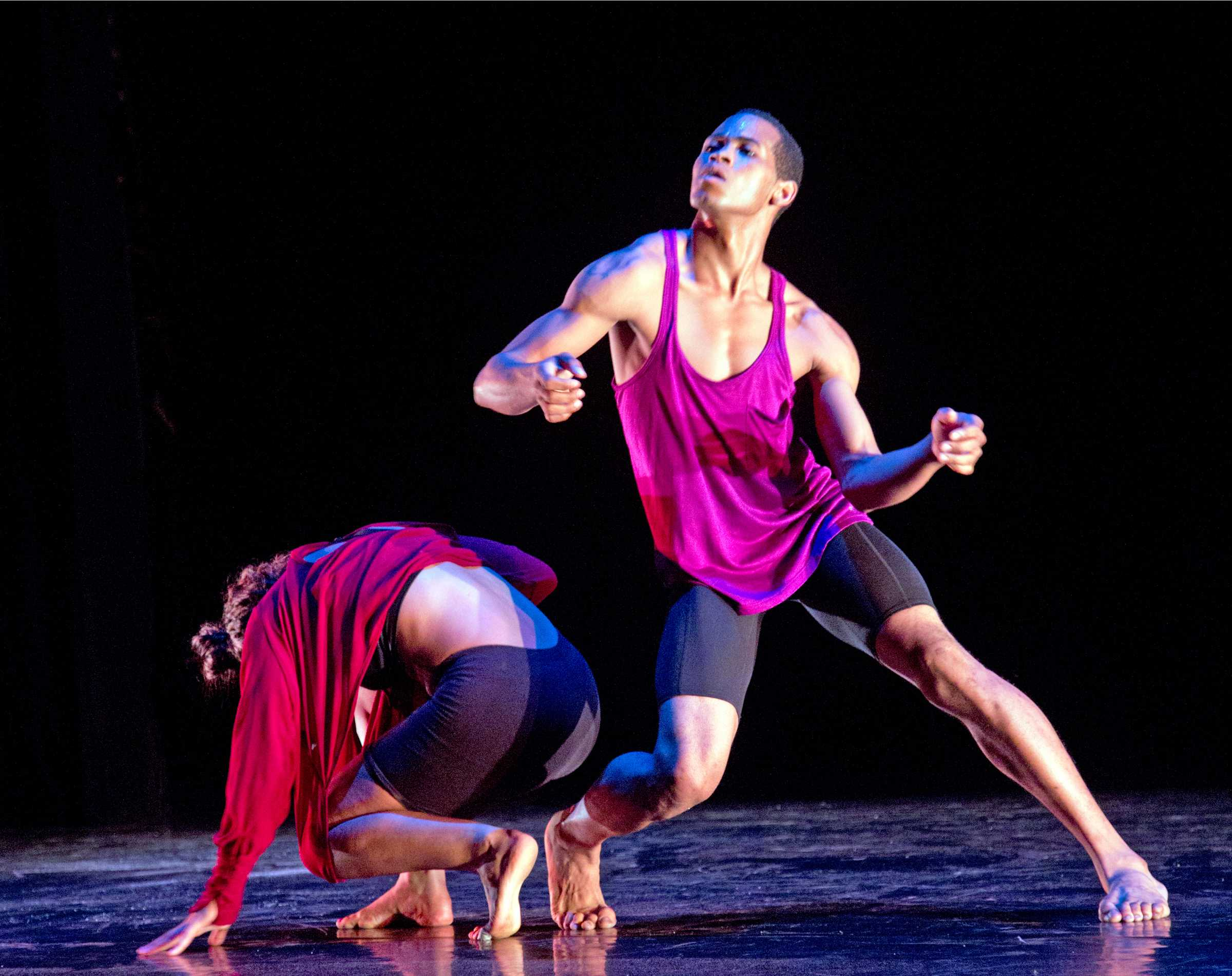 Jamie Nixon, a student at City College, performs a duet for the Young Choreographers Showcase at Saville Theatre on Feb. 23, winning third place. Courtesy photo by Manuel Rotenberg