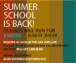 Summer classes return
