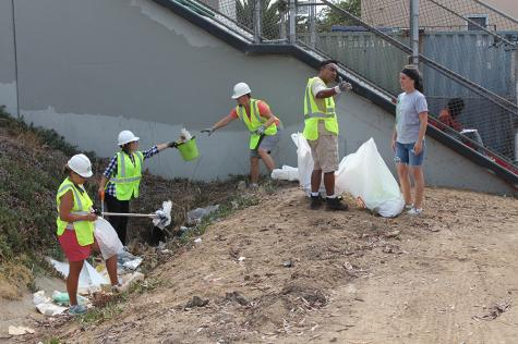Students lead community organized clean-up in Barrio Logan
