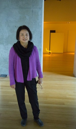Professor YC Kim says she has great plans for City College's new art gallery with hopes of student and community involvement. (Photo by Lupe Diaz)
