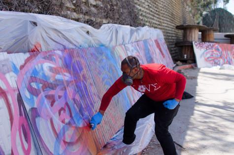 Creating art through the spray can