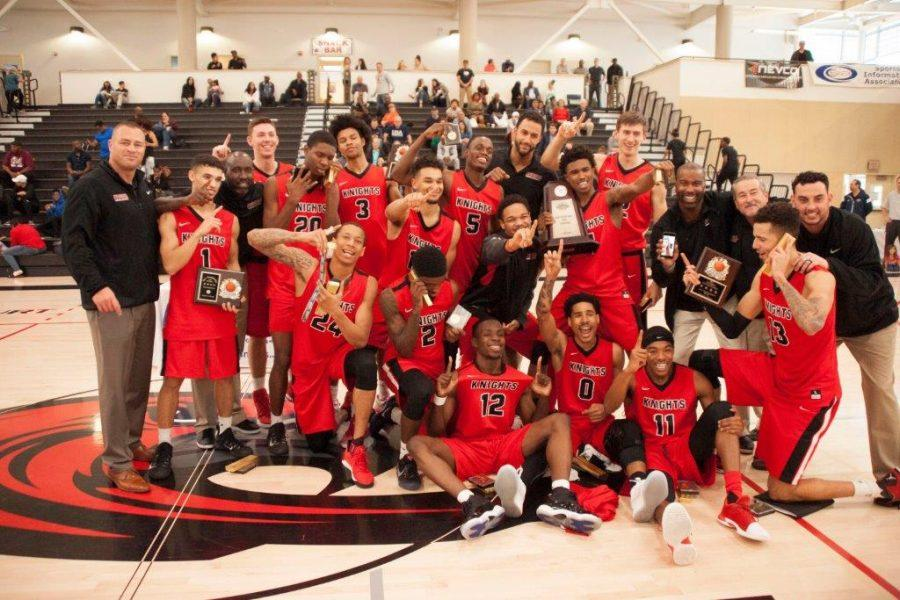 The+2017+Knights+mens+basketball+team+are+the+first+in+San+Diego+history+to+win+the+state+championship.