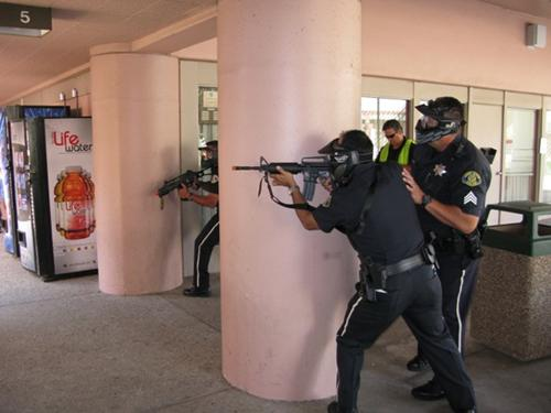 The San Jose/ Evergreen Community College district hosts an active shooter day Sept. 28 to properly train police response.  Courtesy of San Jose/Evergreen Community College Police Department