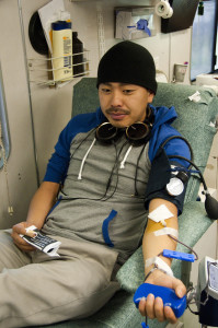 Students give back by donating blood