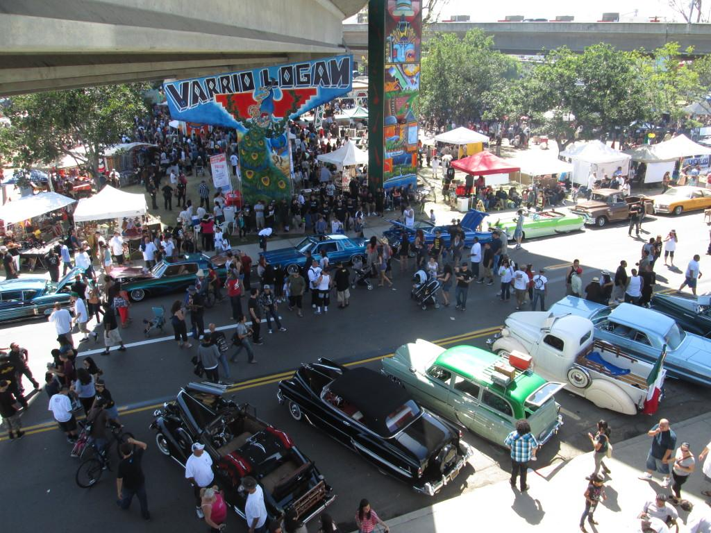 Lowrider+car+show+at+the+43rd+anniversary+of+Chicano+Park.