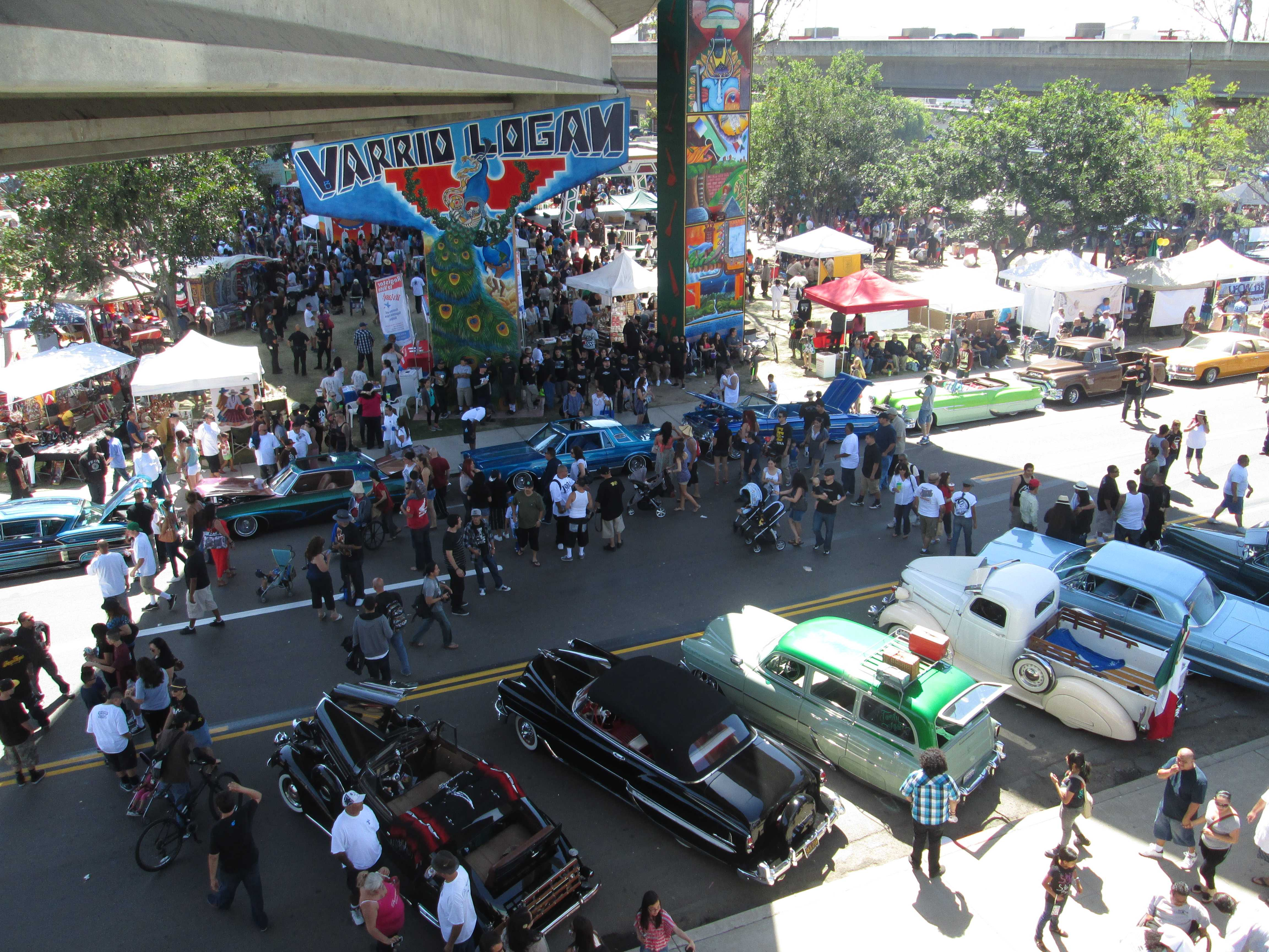 Lowrider car show at the 43rd anniversary of Chicano Park.