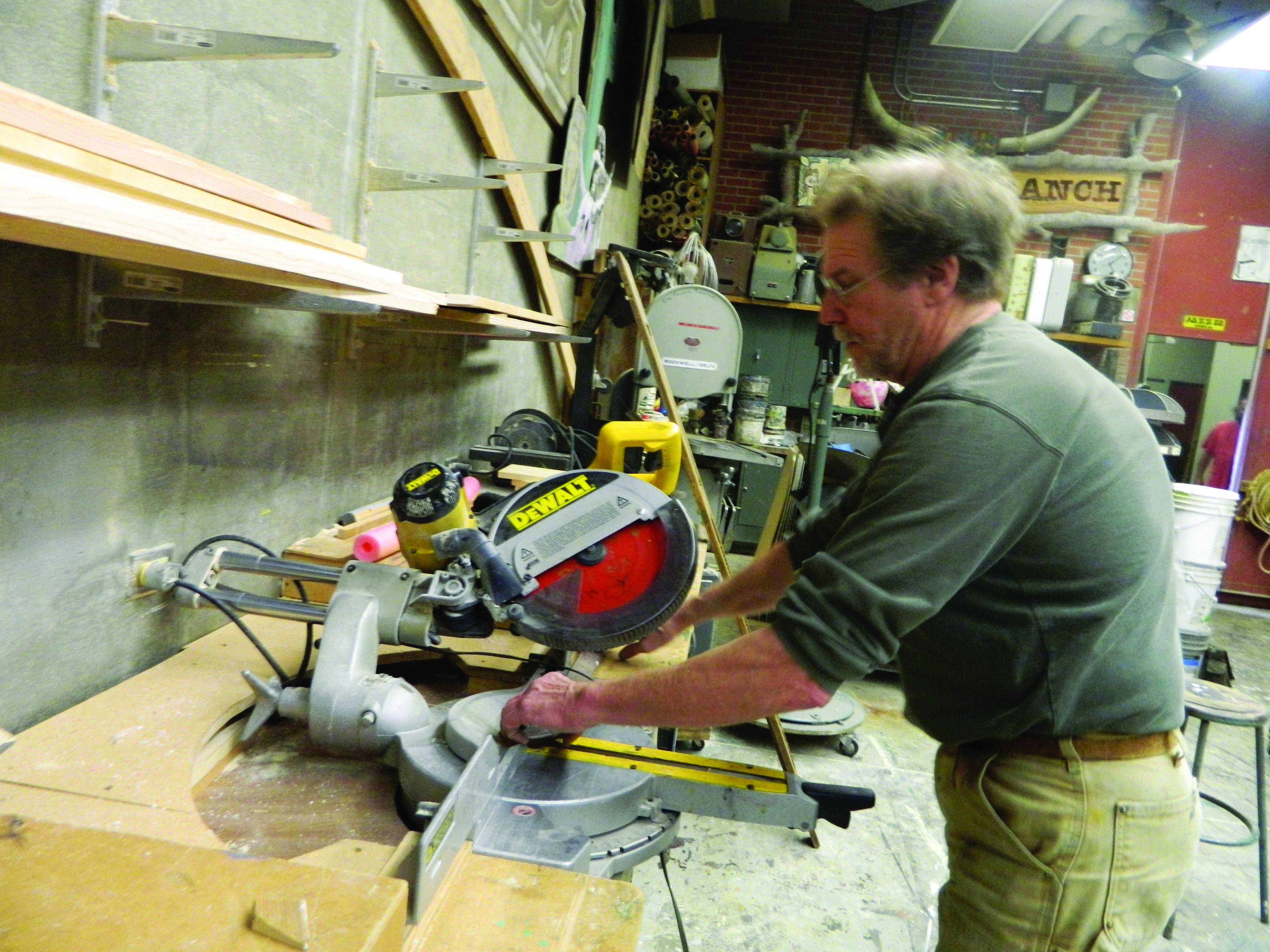 Professor Duane Gardella hard at work during class. Steven Dunetz, City Times. Photo credit: Steven Dunetz