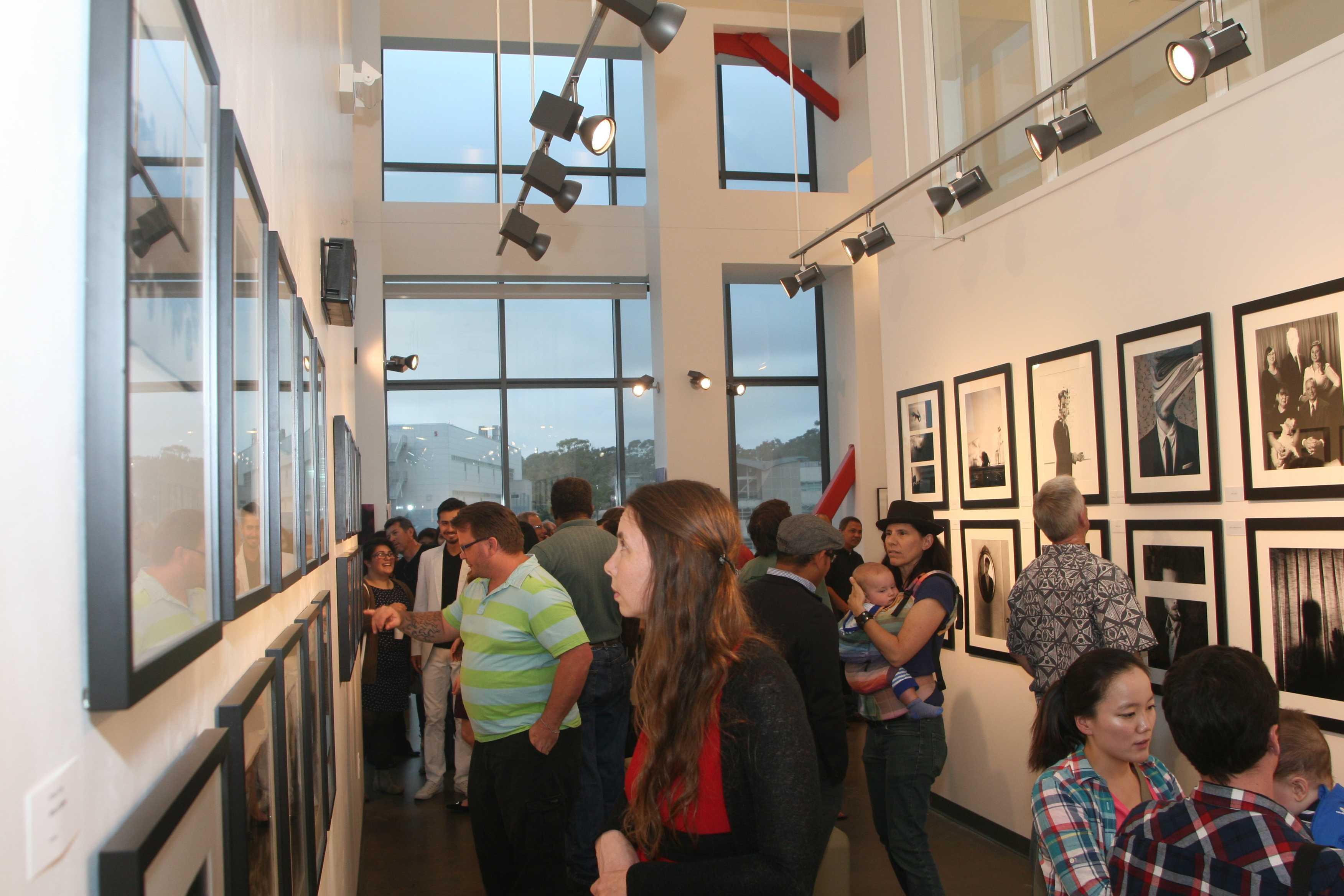 Guests enjoyed the portfolios of City students, including Edward Honaker's works titled