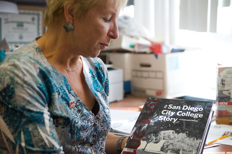 Heidi Bunkowske holding a copy of