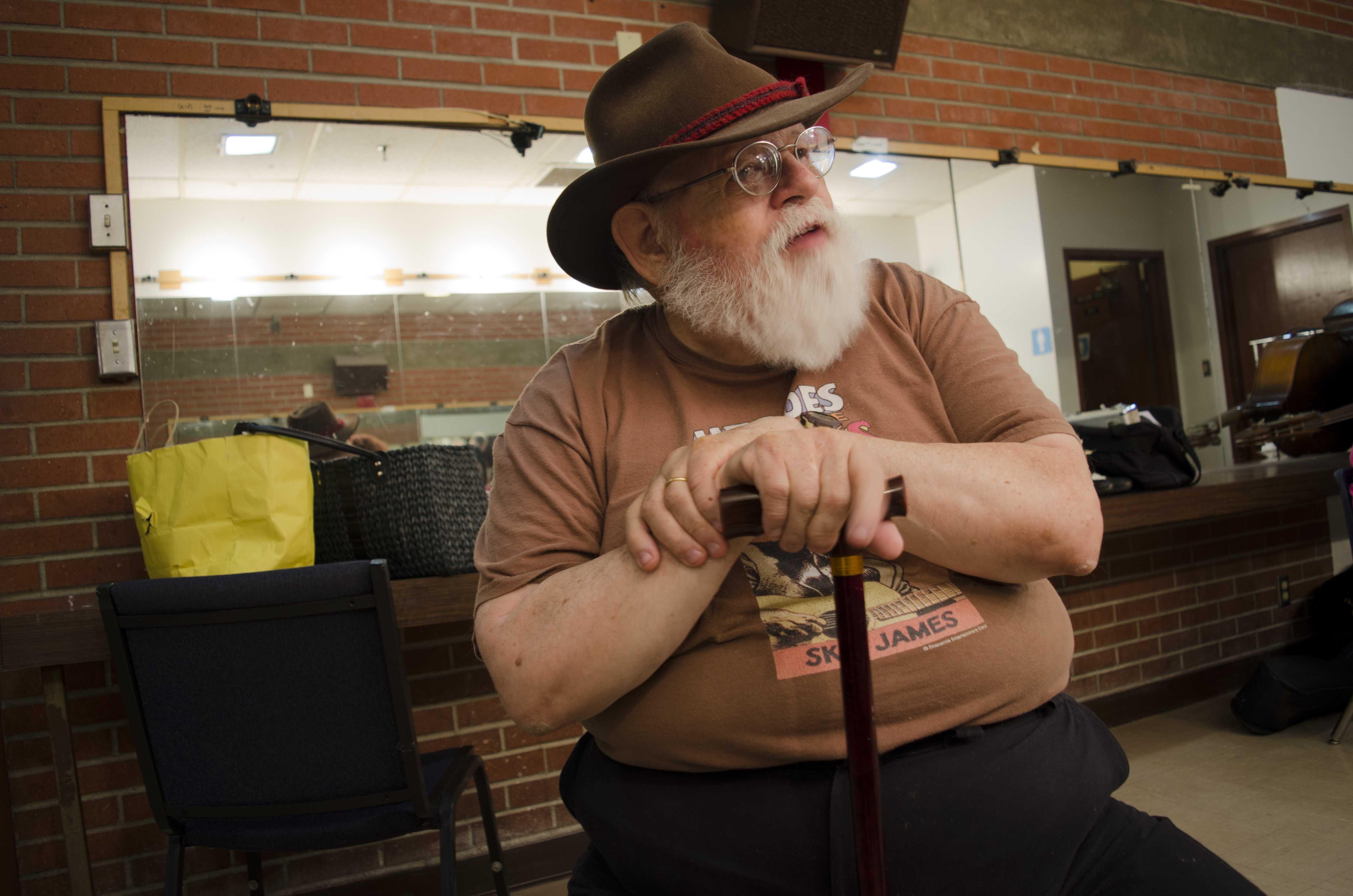 Lou Curtiss in the dressing room before Jazz Live on Sept. 9. Photo credit: Richard Lomibao