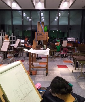 A spacious drawing studio classroom in the Art and Humanities Building. (Photo by Lupe Diaz)