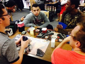 San Diego City College students recently in the cafeteria to play games such as Magic the Gathering. (Photo by Dane Allen)