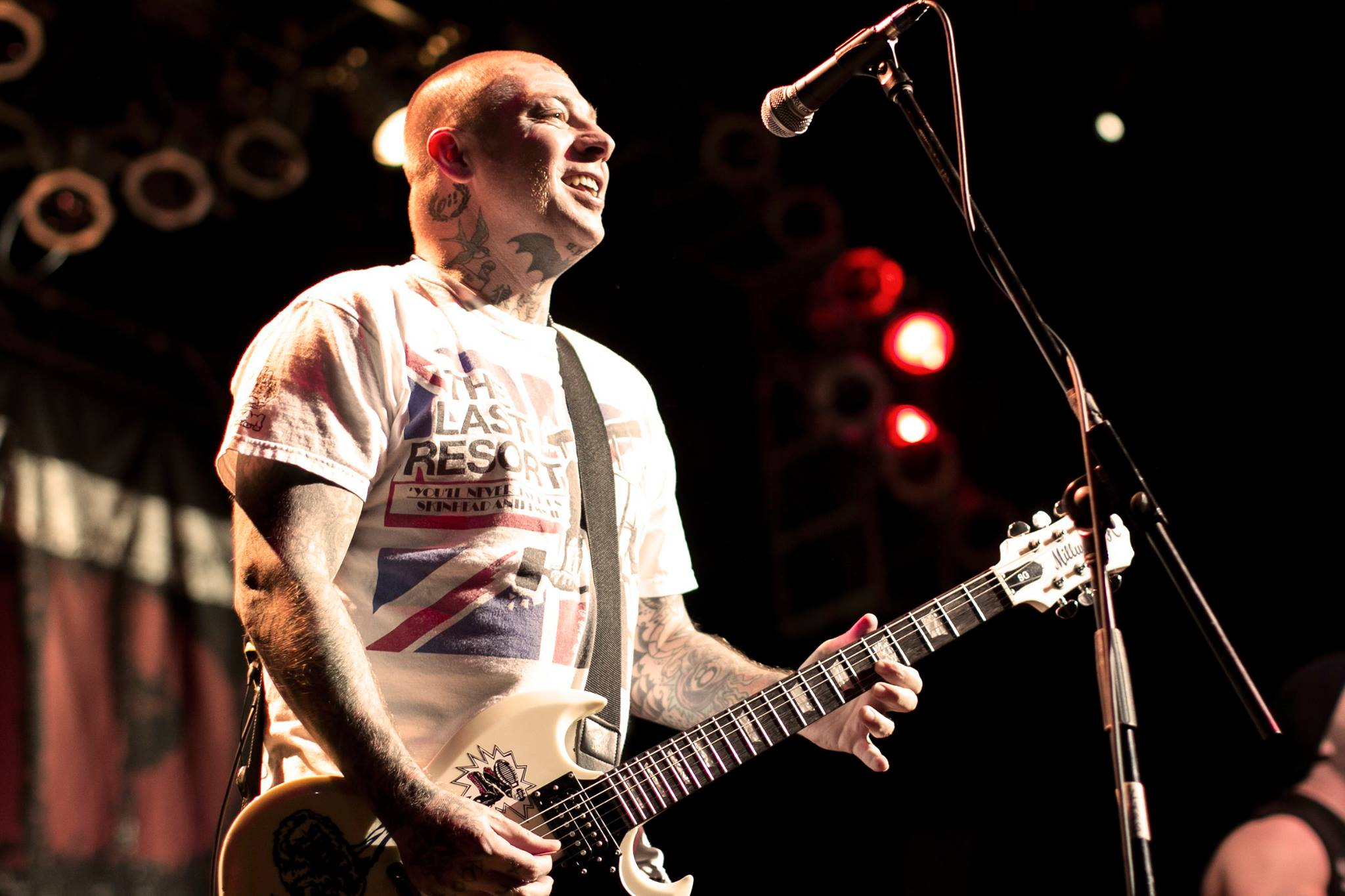 Rancid lead guitarist Lars Frederiksen performing at House of Blues Las Vegas on July 2013. Photo by Tyler Newton.