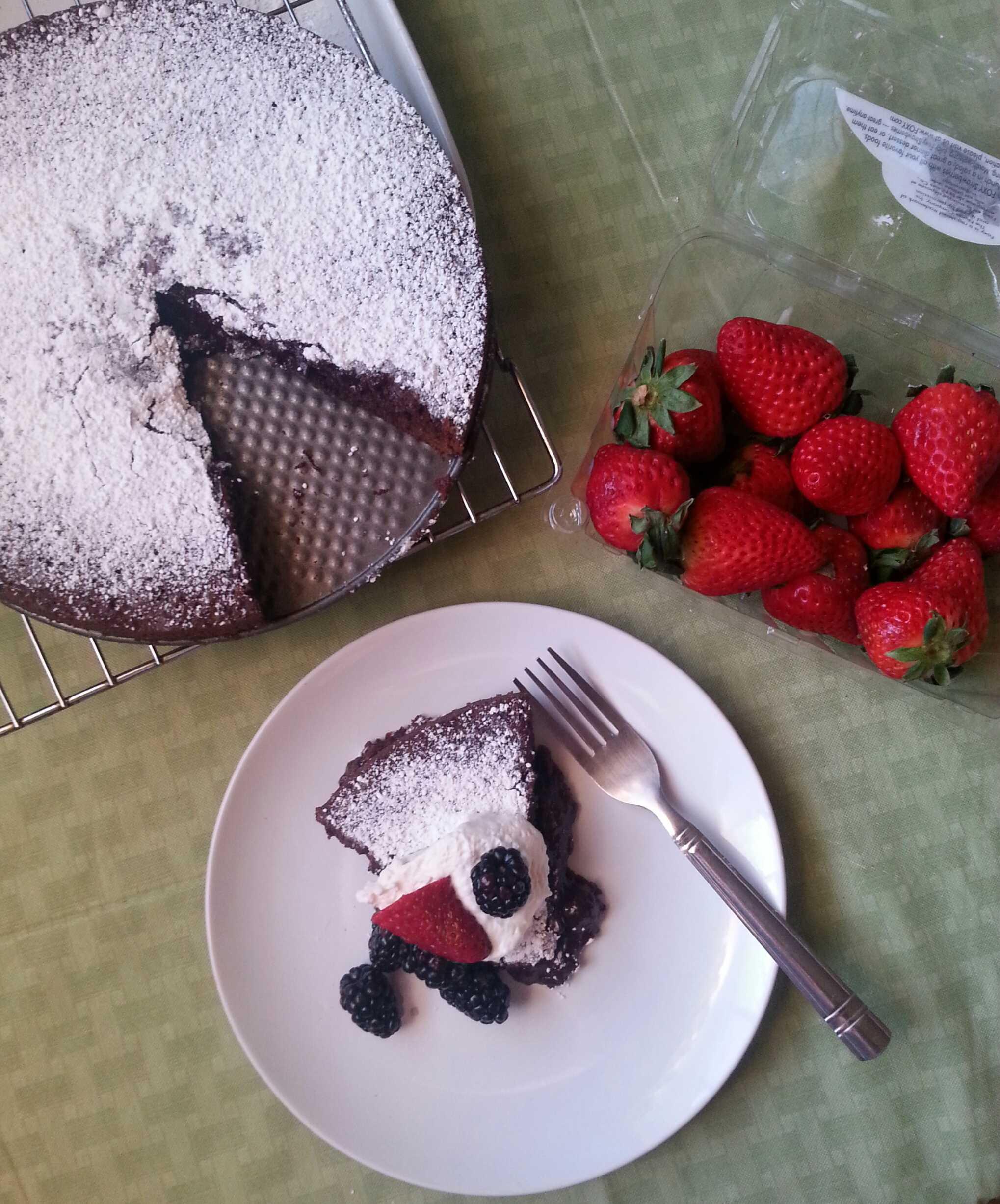 "Kladdkaka or  ""sticky cake"" is the perfect twist on a classic chocolate dessert. Photo credit: Jennifer Manalili"