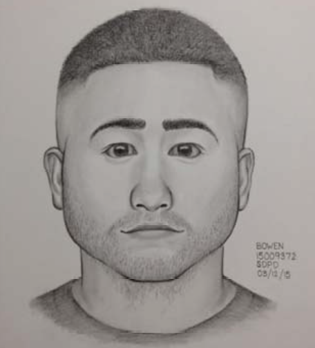 Artist rendering of City College sexual battery suspect. Photo from the San Diego Community College Police Department.