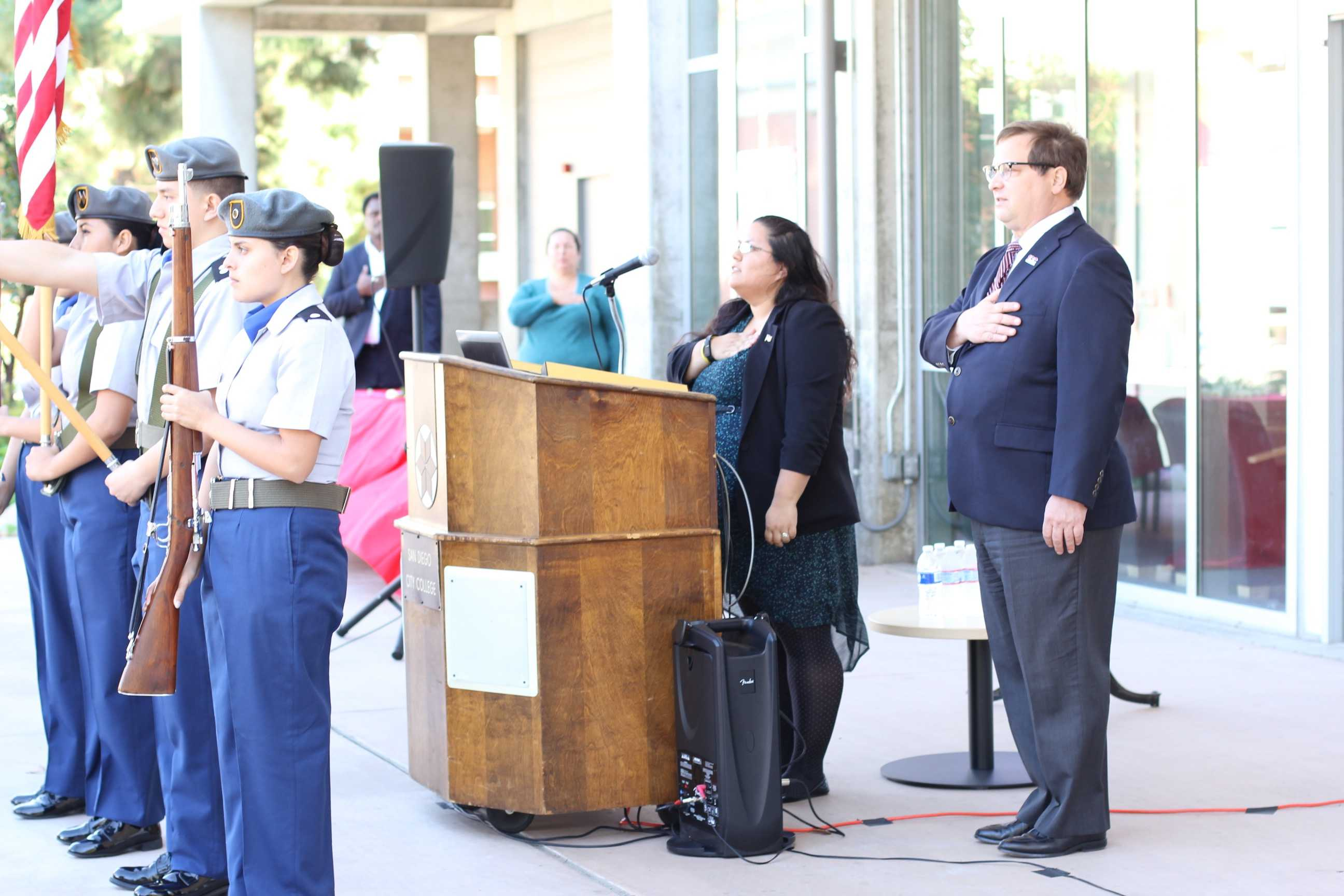 City College honors armed service members at Veterans Day event