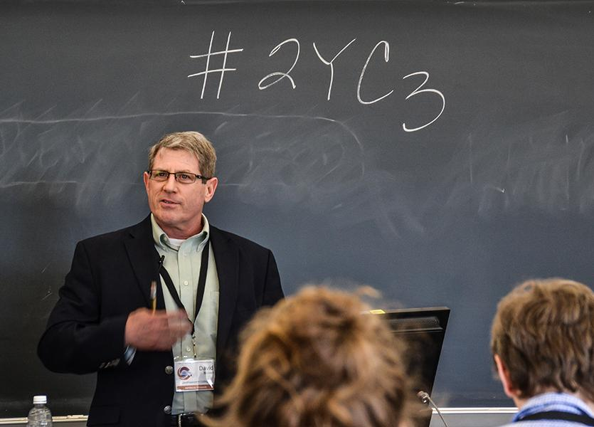 Dan+R.+Brown+%2C+a+professor+from+Southwestern+College%2C+spoke+March+12+on+ways+to+diversify+the+STEM+professional+ranks+at+a+national+conference+at+City+College.+Photo+credit%3A+Collette+Carroll