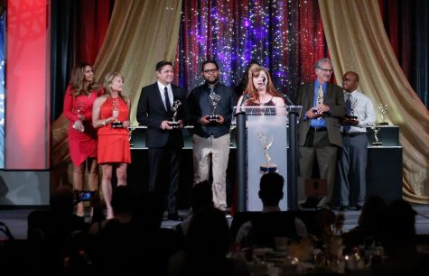 San Diego Union Tribune, EMMYS, Emmy Award, City College, City Times, Mike Madriaga, Alejandro Tamayo, David Brooks, Sharon Heilbrunn, Multimedia, UT, Award Ceremony, 2017, 2016, SDCCD, MMJ, Video, Chargers