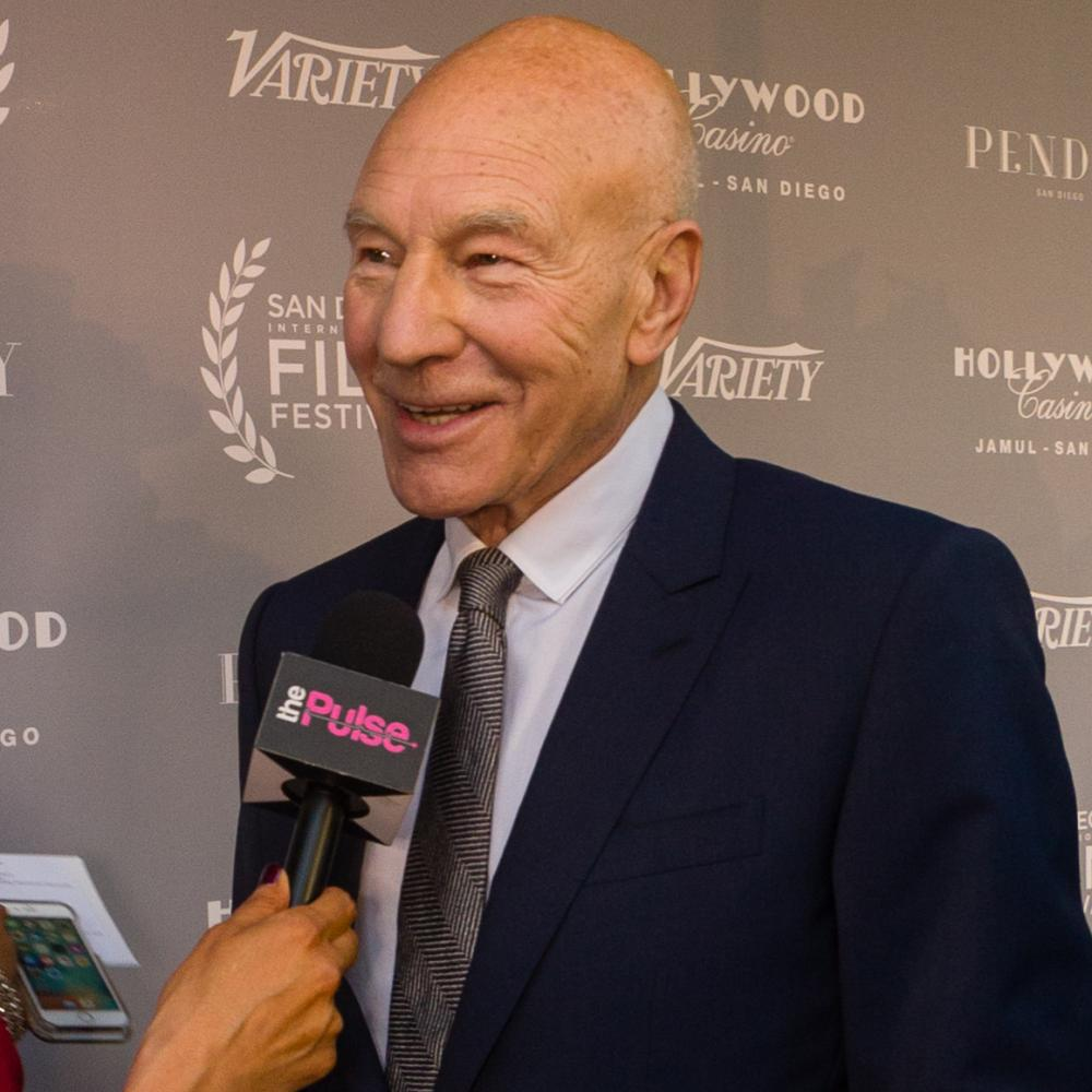 Sir Patrick Stewart on the San Diego International Film Festival red carpet before the VARIETY Night of the Stars Tribute where he was honored with the Gregory Peck Award of Excellence in Cinema, San Diego, Oct. 5, 2017.