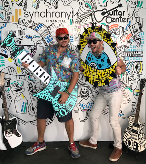 Winner of the contest, Javier Moreno, with his brother Carlos enjoying KAABOO festival at the Del Mar Fairgrounds, Del Mar, Sept. 17.