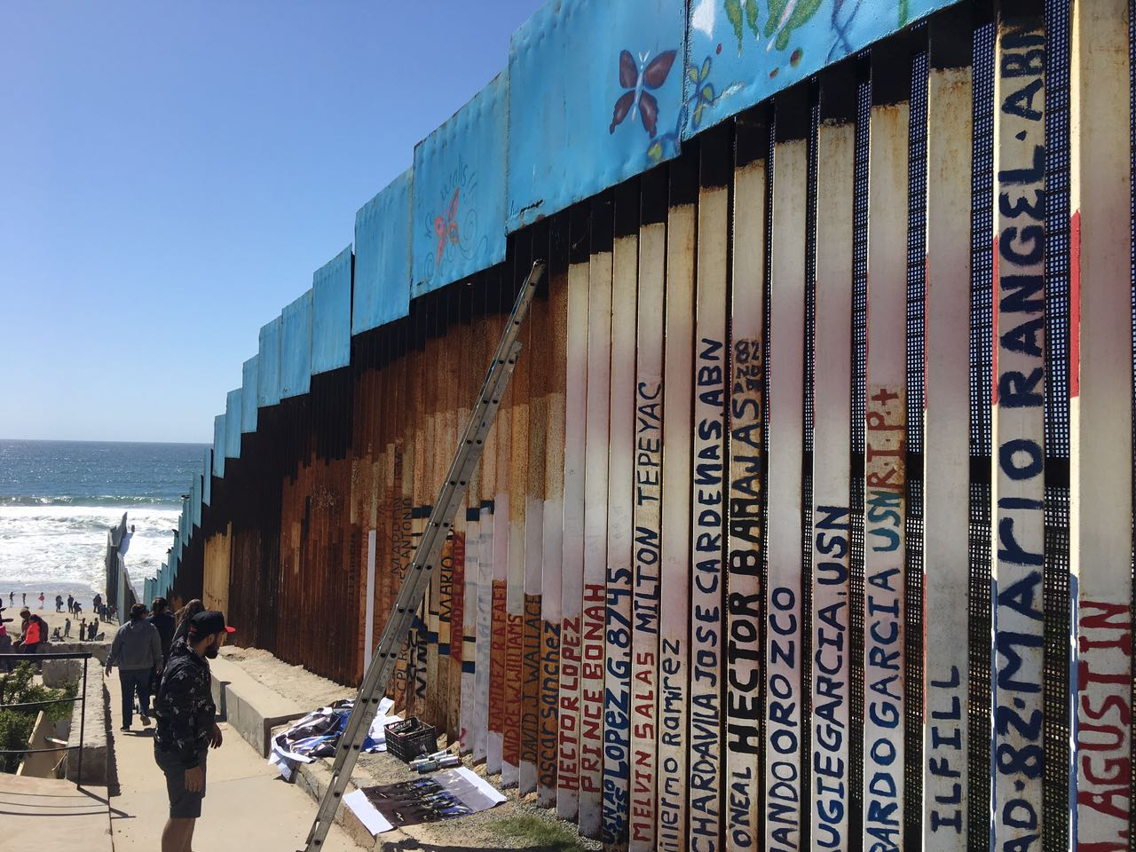 Border wall art on the Tijuana side, 2017.
