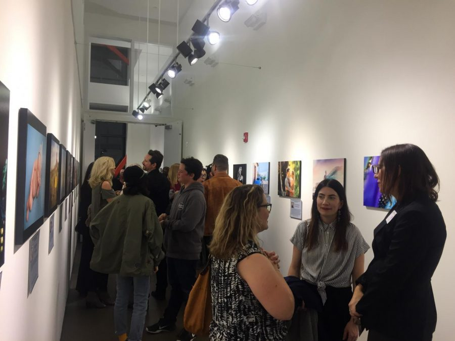 Guests+viewing+and+speaking+with+local+professional+women+photographers+at+Luxe+Gallery.+opening+reception%2C+Women+in+Photography+Visual+Voices.+Feb.+9.+%0A