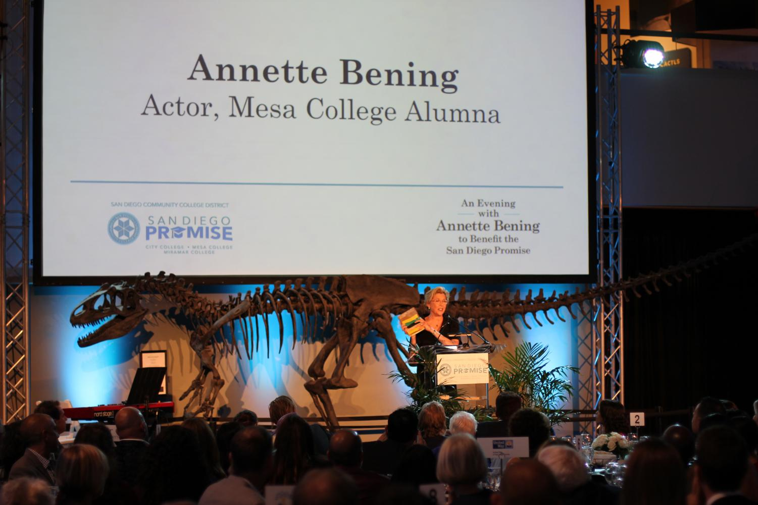 Annette Bening headlined an event that raised over $120,000 for the San Diego Promise. Photo by Jonny Rico