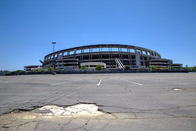 Having lost both the Chargers and the Padres, the former Jack Murphy Stadium has been abandoned by all major league sports, May 3, 2017. Soccer City San Diego has proposed a bid to redevelop the site to host a smaller stadium for a Major League Soccer expansion franchise. Alan Hickey file photo.