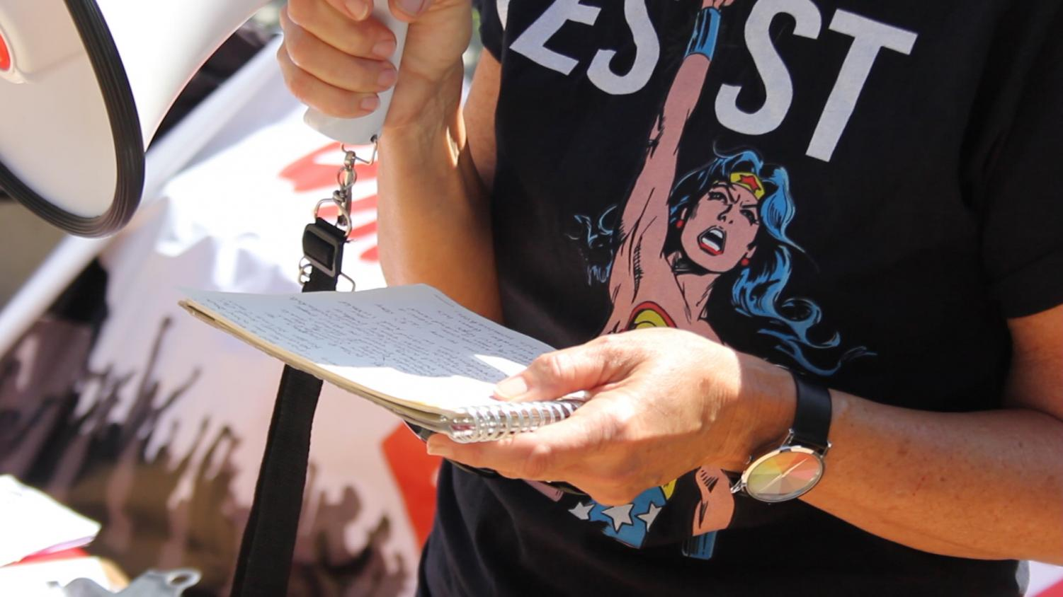 Students, faculty and community members spoke at City College protest. By Nadia Mishkin.