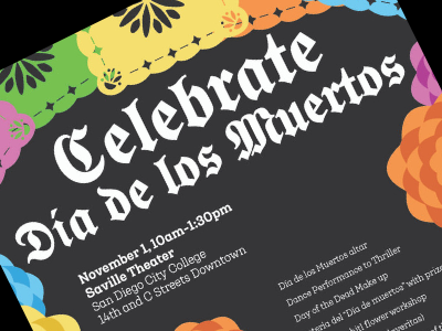 The Dia de los Muertos Celebration at City College on Nov. 1 is one of many Halloween and Dia de los Muertos events this week.