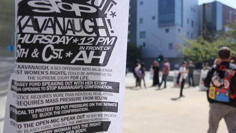 Poster invitation for Kavanaugh protest.
