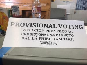 Provisional voting sign
