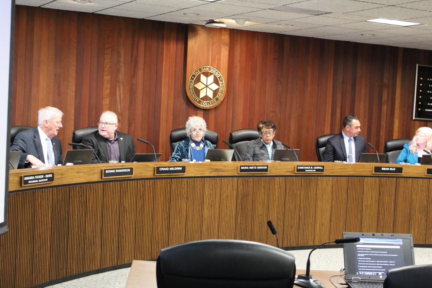 The SDCCD board of trustees held its final meeting of the year in which it swore in two new members. By Jonny Rico