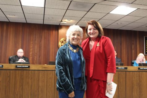 Maria Nieto Senour and Toni Atkins