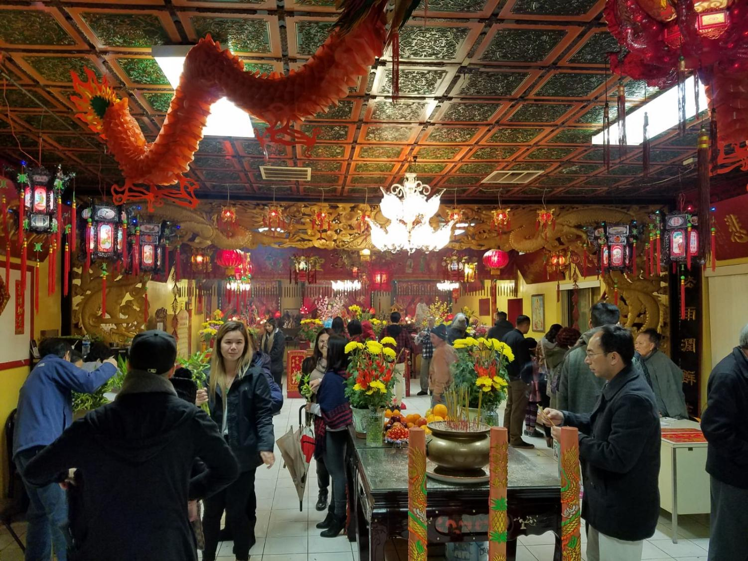The San Diego Indo-Chinese association welcomed guests (and ancestors) with hot tea, aromatic incense, and stunning visual decor. By Brian Mohler/City Times