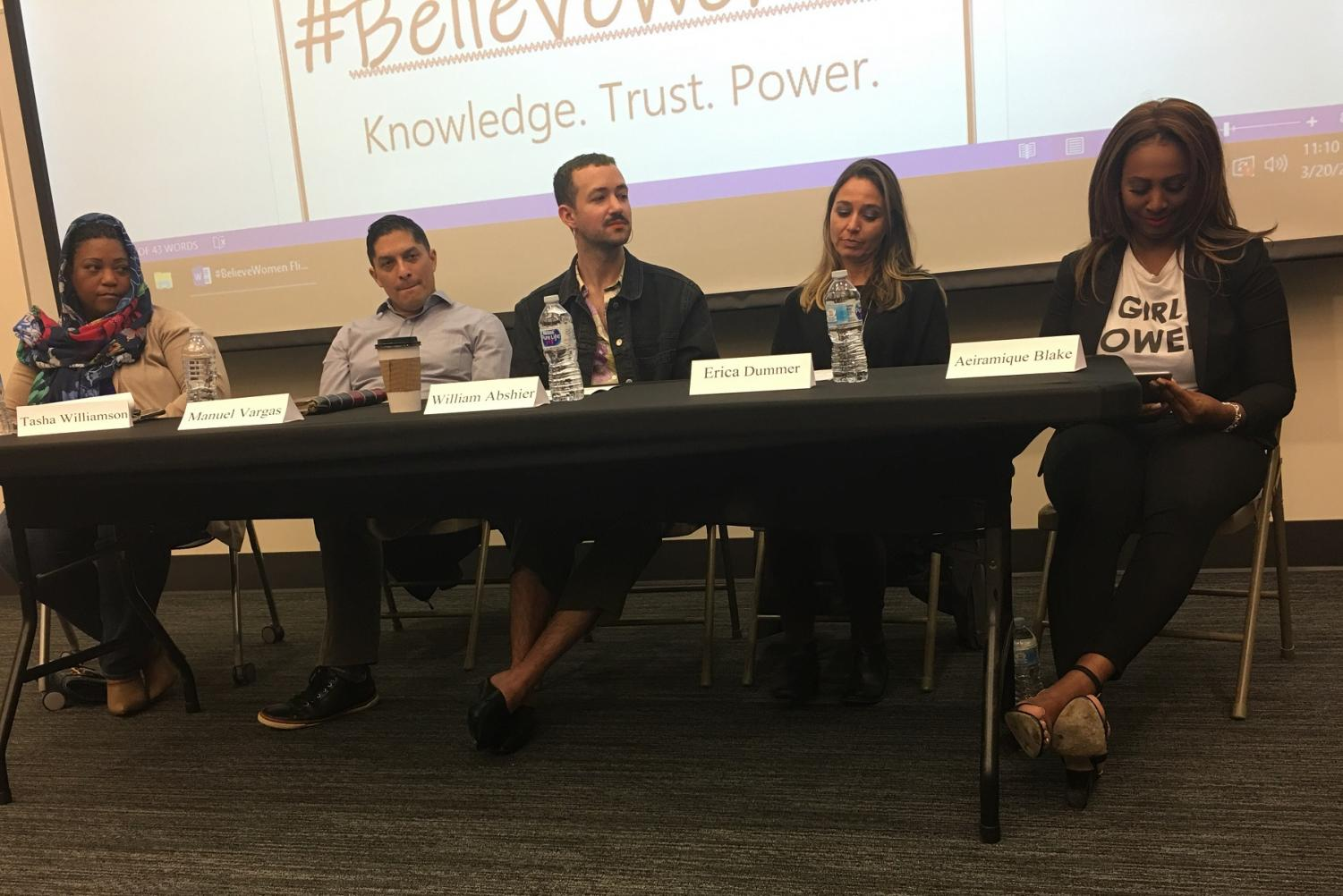 Five experienced panelists discuss the meaning of #BelieveWomen By Uyen Pham/City College