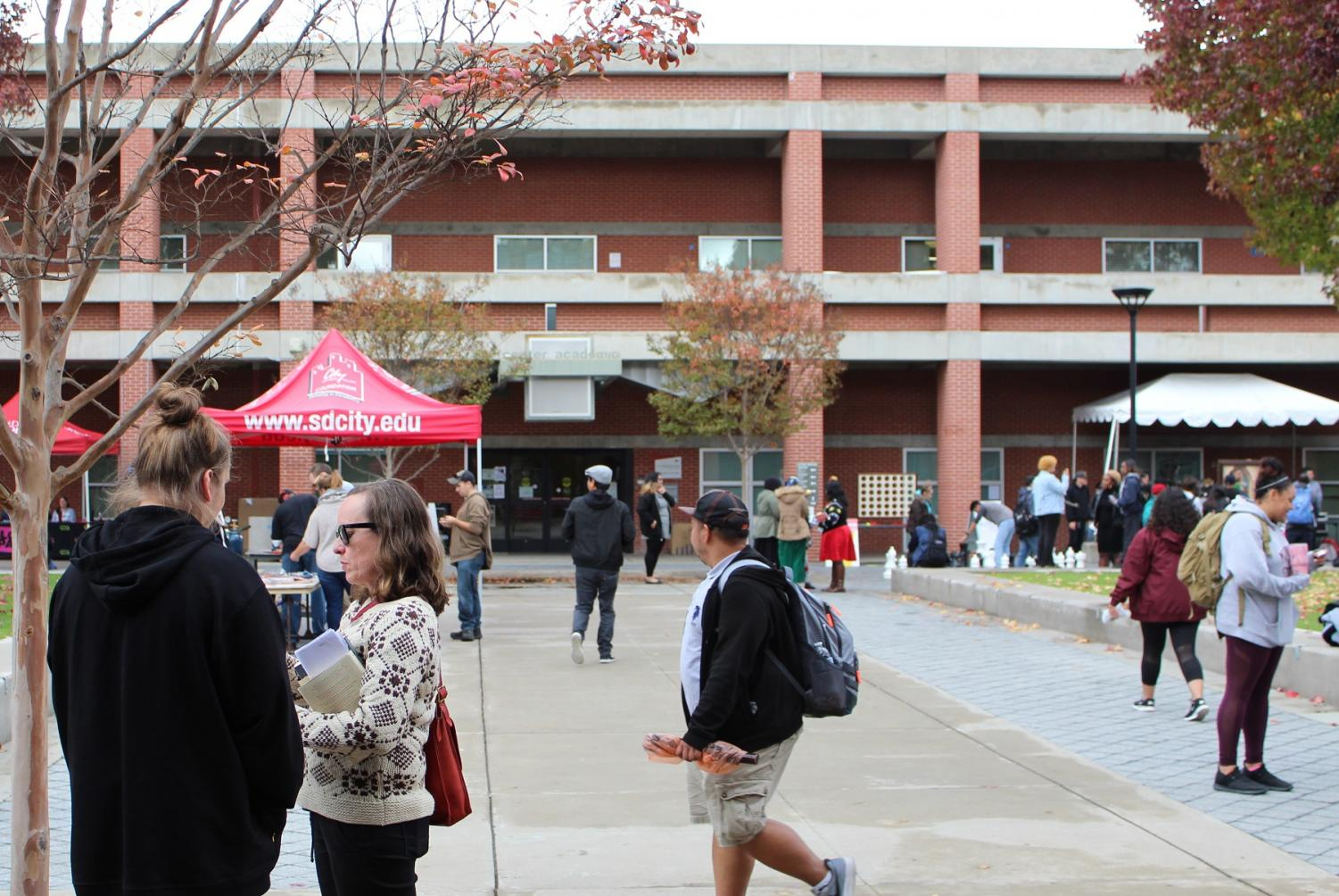 City College clubs and organizations will be out on campus tabling and offering information to students like they did in the Fall 2018 semester's Block Party. By Jonny Rico/City Times