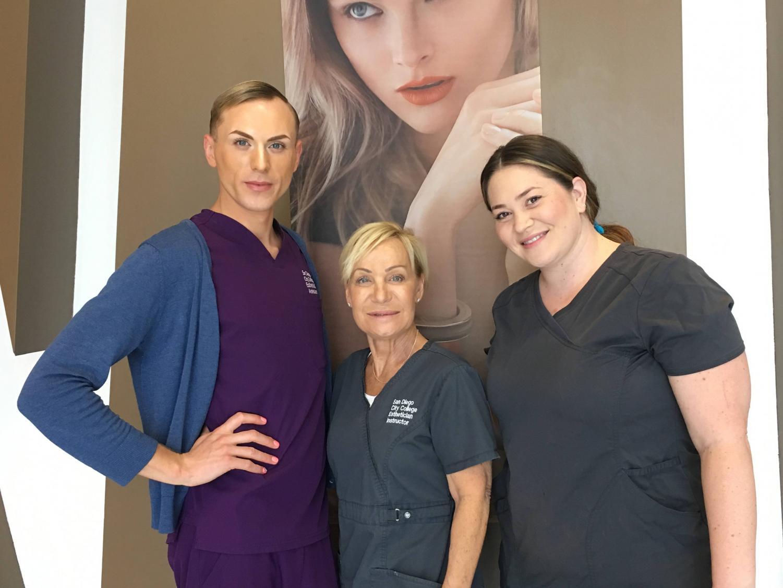 Edward Turner Cortez, Kim Czerwonka and Nicole Morello are the instructors in the new Eyelash Extension program and Esthetics department. Photo courtesy