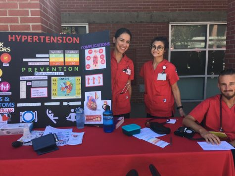Nursing students at Heath and Wellness Expo