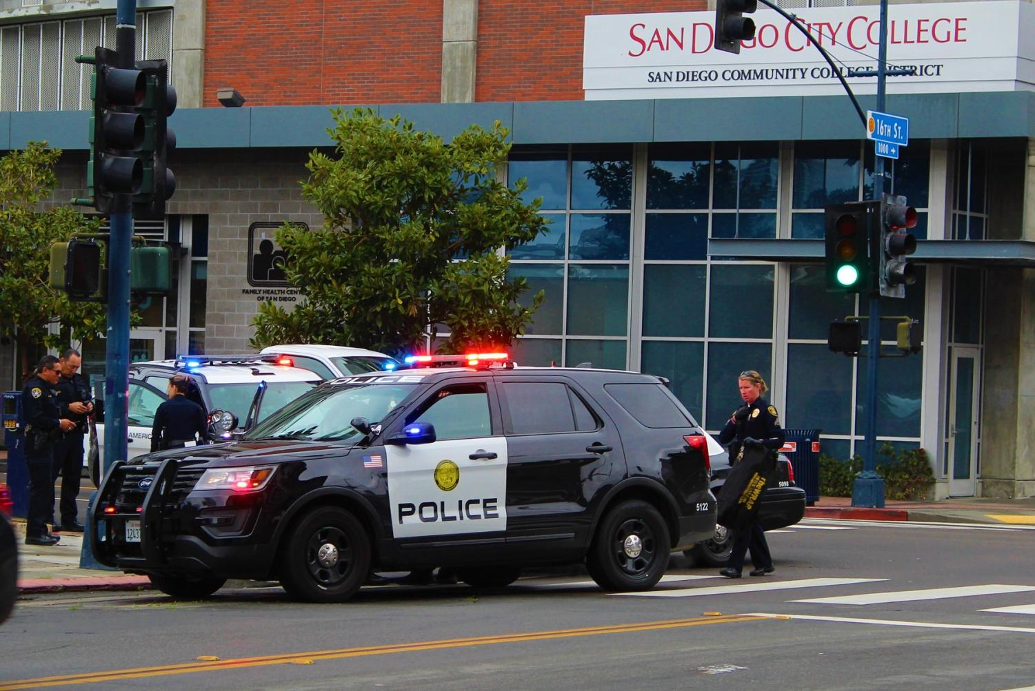 Campus police arrested a suspect with three warrants. SDCCD Police file photo. By Jonny Rico/City Times