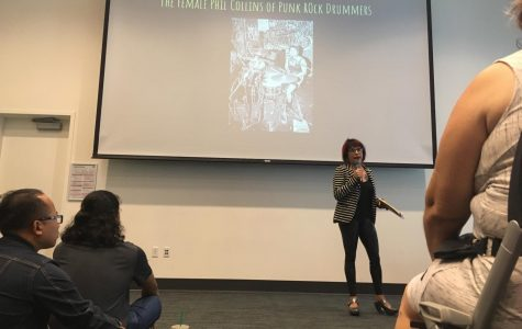 Former punk drummer stops by City College to talk stereotypes