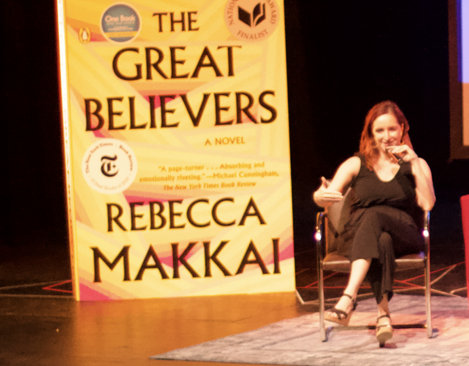 Author Rebecca Makkai visited City College to talk about her new book. Photo by Sonny Garibay
