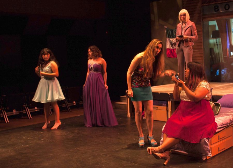 The+cast+of+%22Just+Like+Us%22+rehearses+in+advance+of+the+show%27s+opening.+Photo+by+Aurora+Ruvalcaba