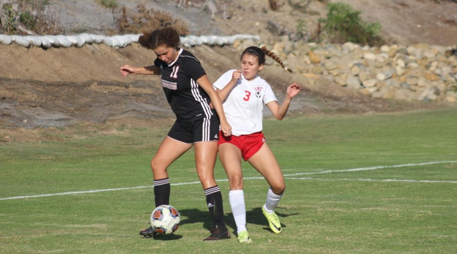 Marisol+Guerrero+%2811%29+assisted+on+both+of+the+Knights%27+goals.+Photo+by+Sonny+Garibay